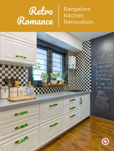 Reviving retro theme in an open kitchen layout in a Bangalore home Blue Kitchens, Family Kitchen, Kitchen Decor, Kitchen, Kitchen Layout, Modern Kitchen Design, Open Kitchen Layouts, Home Interior Design, Kitchen Renovation