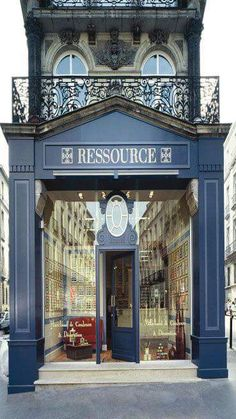 all the beauty things. Francia Paris, Paris France, Beach Living Room, Showroom Design, Shopping Street, Shop Fronts, French Countryside, French Chic, Cafe Interior