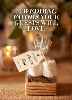 Looking for wedding favors that your guests will want to stashCheck out these adorable favors your guests will love to take home.