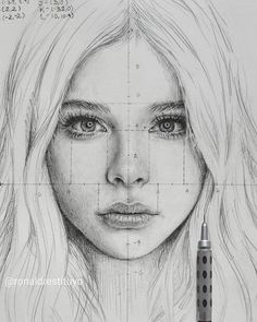 Cool Art Drawings, Pencil Art Drawings, Art Drawings Sketches, Realistic Drawings, Drawing Faces, Face Proportions Drawing, Pencil Sketching, Art Illustrations, Drawing Art