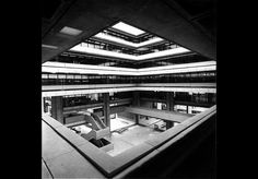 Birmingham Central Library by John Madin Source: Architectural Press Archive RIBA Library Photographs Collection Birmingham Library, Birmingham Uk, Plan Design, Diy Design, Interior Design History, Museum Architecture, Central Library, Table Design, West Midlands