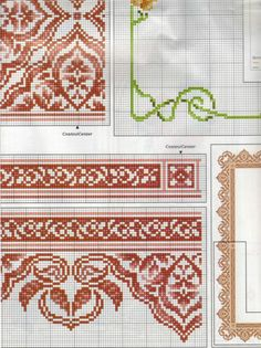 Cross Stitch Boarders, Cross Stitch Designs, Bordados E Cia, Chart Design, Filet Crochet, Loom Beading, Cross Stitch Embroidery, Needlepoint, Cross Stitch Patterns