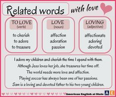 Related words - Love