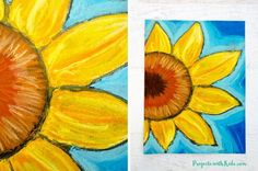 These chalk pastel sunflowers are so colorful and beautiful! Kids will learn easy chalk pastel techniques to create this fun sunflower art project! Chalk Pastel Art, Oil Pastel Art, Chalk Pastels, Oil Pastels, Sunflower Crafts, Sunflower Art, Famous Artists Paintings, Easy Flower Painting, Kandinsky Art