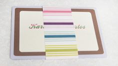 Simple invite with rainbow band