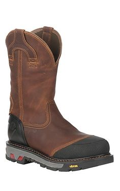 Justin Men s Brown Dual Density Waterproof Composite Round Toe Work Boots  34f14f35db