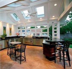 Amazing outdoor kitchen and entertaining setup!