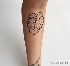 Monstera Leaf Temporary Tattoo (Set of 2)