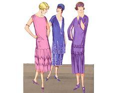 1920s Evening Dress, 1920s Dress, 1920s Party Dresses, Dance Dresses, Summer Dresses, German Fashion, Vintage Patterns, Dress Patterns, Cool Designs