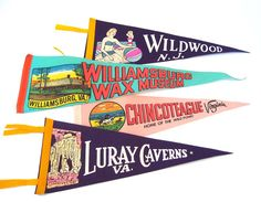 Vintage pennants. Remember to dig out mine from the circus for Zoran.