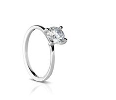 R472-1 - Sholdt Design. Solitaire four prong for a 1 carat center stone.