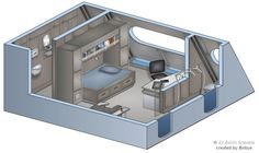 Star Trek Enterprise NX-01 Enlisted Perssonel quarters made by: BobyE (here as: bobye2) with: Zoner Calisto 4 If anybody want some of my Star Trek Interior drawings in higher resolution, please sen...
