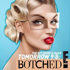 "The operation was ""Botched""-the show is a hit! Hair by BRANT MAYFIELD Makeup, Movie Posters, Hair, Artists, Make Up, Film Poster, Popcorn Posters, Bronzer Makeup, Billboard"