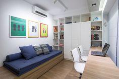 Este apartamento de apenas 70 metros quadrados, projetado pelo pessoal da Semerene Arquitetura Interior, está situado em um edifício recém construído em um