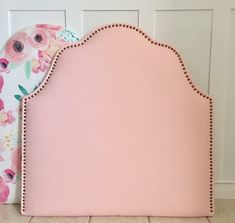 Twin Upholstered Headboard BLUSH Pink