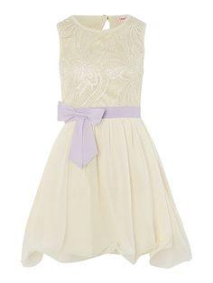 Girls bow waist dress