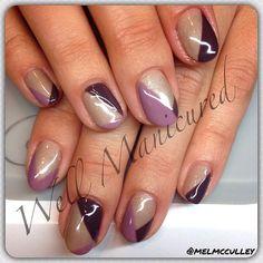#wellmanicured #gelish #gel #mani #manhattanbeach #hermosabeach #la #intheheartofthesouthbay #freehand #geometric #fallcolors #trends #nails #nailart #nailartist #nailstylist #naildesigns #paint #create #artist #picoftheday #ilovemynails #nailsofinstagram #Padgram