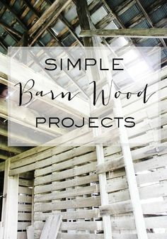 Simple and easy DIY projects from barn wood you can make to decorate your spaces.  Add a little barn wood to your home for fall.