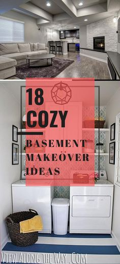 Best DIY Renovation Ideas for unfinished Basement Cozy Basement, Basement Makeover, Basement Renovations, Dreaming Of You, Diy, Ideas, Design, Decor, Style