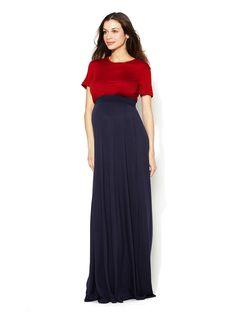 Two-Tone Maxi Dress by Zula Maternity at Gilt