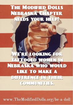Help out our building chapter, The Modified Dolls Nebraska Chapter by liking their #Facebook page at: https://www.facebook.com/NebraskaDolls/  If you have any modified female friends living in the area, be sure to send them their way! :) #ModifiedDolls #ModifiedWomen #Nebraska #NonProfit #BuildingChapter #SupportingCharities #volunteering #recruiting #DifferentMakingADifference