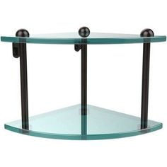 Two Tier Corner Glass Shelf (Build to Order)