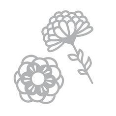 Dies Artemio - Fleurs - Collection Graphic Time - 2 matrices de découpe