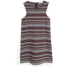 MANGO Textured Jacquard Dress ($60) ❤ liked on Polyvore featuring dresses, mango dresses, black dress, kohl dresses, textured dress and black jacquard dress