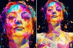 Hollywood Stars Blasted With Pop Art Colour