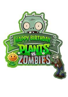 Plants Vs Zombies, Zombies Vs, Zombie Birthday Parties, Zombie Party, Plant Zombie, Plant Vs Zombie Cake, Zombie Logo, P Vs Z, Plantas Versus Zombies