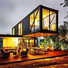 The shipping container home layout is a new kind of architecture that uses the shipping containers (with steel substance ) as structural kind. Locating a used shipping container and turning it to a home is much cheaper than getting a… Continue Reading → Modern Tiny House, Tiny House Design, Modern House Design, Building A Container Home, Container House Plans, Cargo Container Homes, Storage Container Homes, Container Architecture, Architecture Design