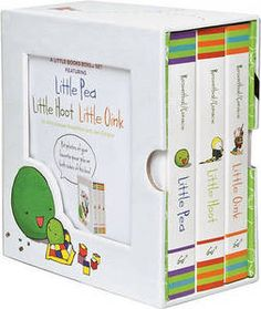 Diecut slipcase | Little Books Box Set: Little Hoot: WITH Oink: AND Pea by Amy Krouse Rosenthal, Jen Corace (Board book, 2009)