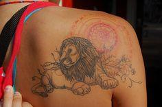 artist David Hale #tattoo #body_art #lion