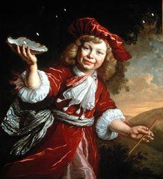 Homo Bulla - A Boy Blowing Bubbles, Bartholomeus Van Der Helst (Dutch Baroque Era Painter, 1613-1670)