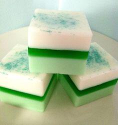 Vanilla Key Lime Glycerin Petite Four Tea Cake Soap, Handmade Glycerin Soap, St. Patrick's Day Soap, Spring Soap, Easter Soap. $5.75, via Etsy.