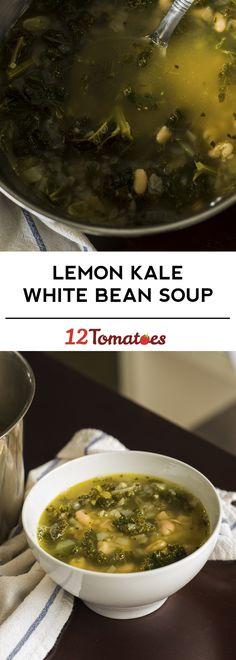 Lemon Kale White Bean Soup
