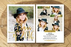 Senior Graduation Announcement 009 by Salsal Design on @creativemarket