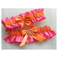 Pink and Orange Garter