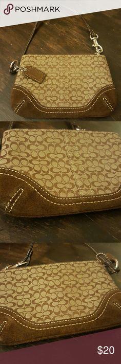 Selling this Brown Coach Wristlet on Poshmark! My username is: tashacorcino. #shopmycloset #poshmark #fashion #shopping #style #forsale #Coach #Handbags