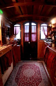 120 Tiny House Bus Designs and Decorating Ideas - HomeSpecially Gypsy Living, Tiny House Living, Small Living, Gypsy Trailer, Gypsy Home, Camping Car, Camping Ideas, Good House, Tiny Spaces