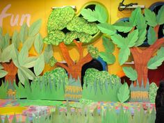 weird animals vbs | paper leaves