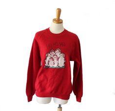 Vintage Ugly Christmas Ho Ho Ho Sweater  by bluebutterflyvintage
