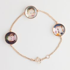 "Roberta Tajani- Bracelet ""Pois"" Three images, Pink Gold 9 ct."