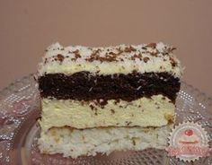 Raffaello kocka Hungarian Recipes, Hungarian Food, Vanilla Cake, Coco, Nutella, Tiramisu, Food And Drink, Dessert Recipes, Cooking Recipes