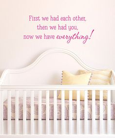 Pink 'We Have Everything' Wall Quote