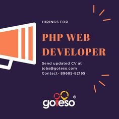 Goteso is hiring PHP developers #PHPJobs #PHPDeveloperJ