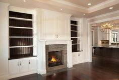 Built In Cabinets Around Fireplace Pictures