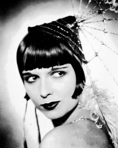 Louise Brooks-Pandora's Box  ....... and the trademark haircut (which Colleen Moore wore first!)