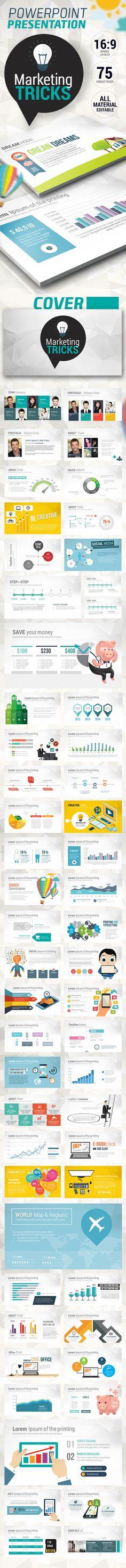 Fresh Marketing Tricks Presentation Template #powerpoint #powerpointtemplate Download: http://graphicriver.net/item/fresh-marketing-tricks-presentation/10440013?ref=ksioks