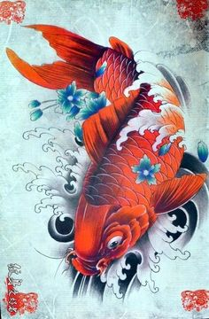 Japanese Koi Fish Tattoo, Koi Fish Drawing, Japanese Tattoo Designs, Fish Drawings, Koi Tattoo Design, Tatoo Designs, Koi Art, Fish Art, Body Art Tattoos